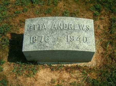 ANDREWS, ETTA - Brown County, Ohio | ETTA ANDREWS - Ohio Gravestone Photos