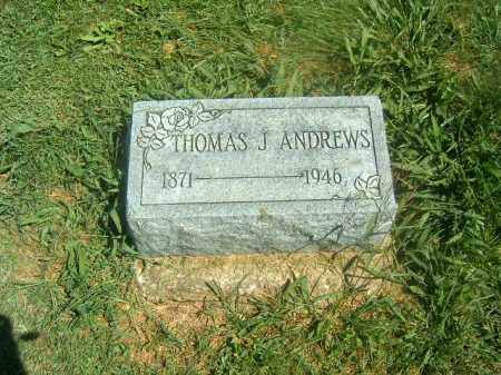 ANDREWS, THOMAS  J - Brown County, Ohio | THOMAS  J ANDREWS - Ohio Gravestone Photos