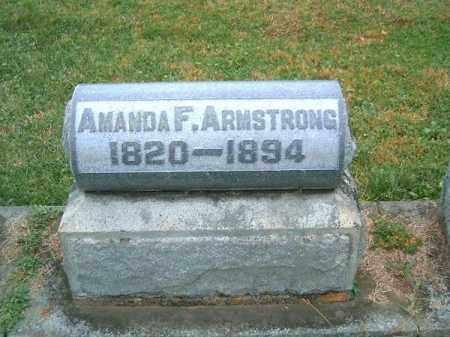 ARMSTRONG, AMANDA   F - Brown County, Ohio   AMANDA   F ARMSTRONG - Ohio Gravestone Photos