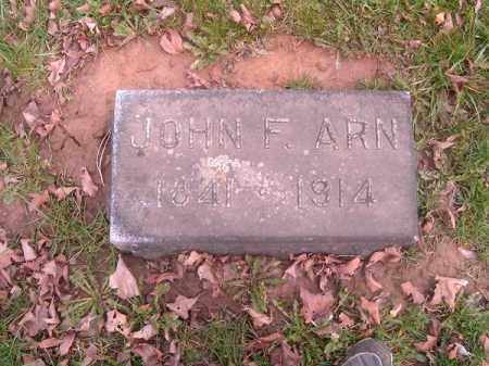 ARN, JOHN  F - Brown County, Ohio | JOHN  F ARN - Ohio Gravestone Photos