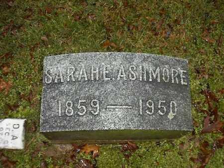 ASHMORE, SARAH  E - Brown County, Ohio   SARAH  E ASHMORE - Ohio Gravestone Photos