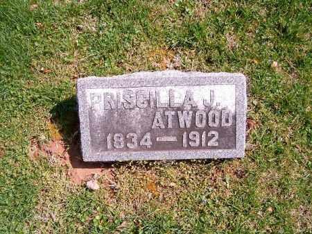 ATWOOD, PRISCILLA   J - Brown County, Ohio | PRISCILLA   J ATWOOD - Ohio Gravestone Photos