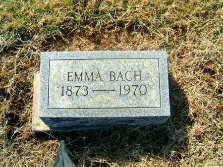 BACH, EMMA - Brown County, Ohio | EMMA BACH - Ohio Gravestone Photos