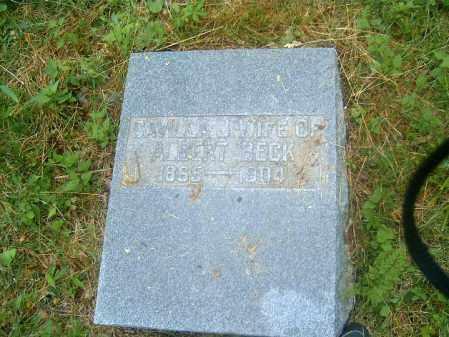 BECK, SAVILLA - Brown County, Ohio   SAVILLA BECK - Ohio Gravestone Photos