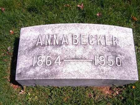 BECKER, ANNA - Brown County, Ohio | ANNA BECKER - Ohio Gravestone Photos