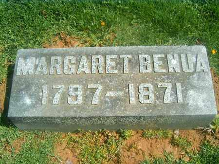 BENUA, MARGARET - Brown County, Ohio | MARGARET BENUA - Ohio Gravestone Photos