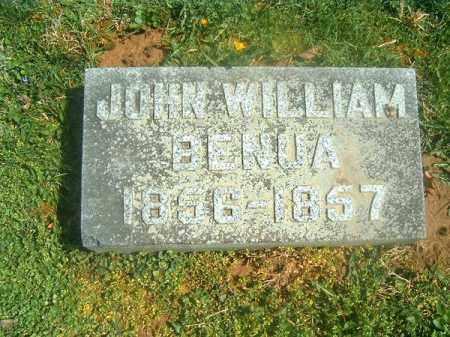 BENUA, JOHN   WILLIAM - Brown County, Ohio   JOHN   WILLIAM BENUA - Ohio Gravestone Photos