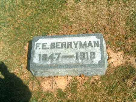 BERRYMAN, F  E - Brown County, Ohio | F  E BERRYMAN - Ohio Gravestone Photos