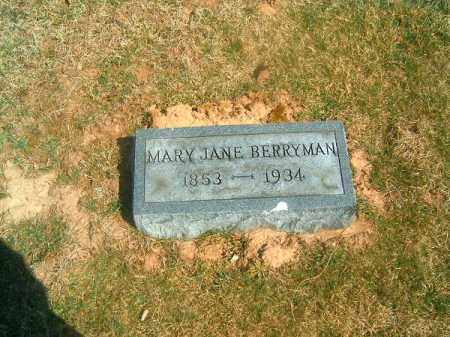 BERRYMAN, MARY  JANE - Brown County, Ohio | MARY  JANE BERRYMAN - Ohio Gravestone Photos