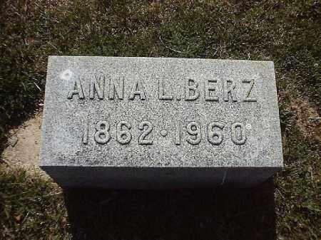 BERZ, ANNA  L - Brown County, Ohio   ANNA  L BERZ - Ohio Gravestone Photos