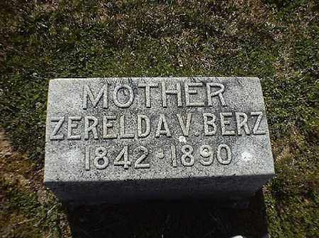 BERZ, ZERELDA  V - Brown County, Ohio | ZERELDA  V BERZ - Ohio Gravestone Photos
