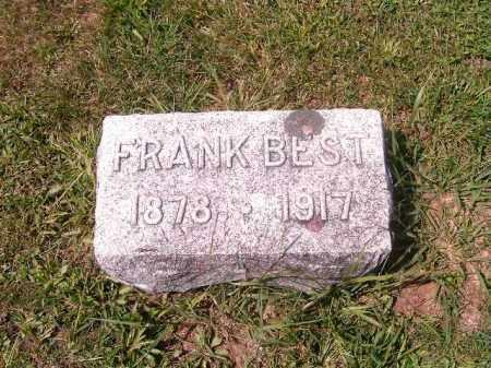 BEST, FRANK - Brown County, Ohio | FRANK BEST - Ohio Gravestone Photos