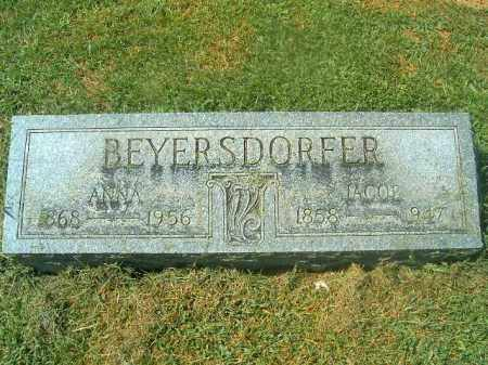 BEYERSDORFER, ANNA - Brown County, Ohio | ANNA BEYERSDORFER - Ohio Gravestone Photos
