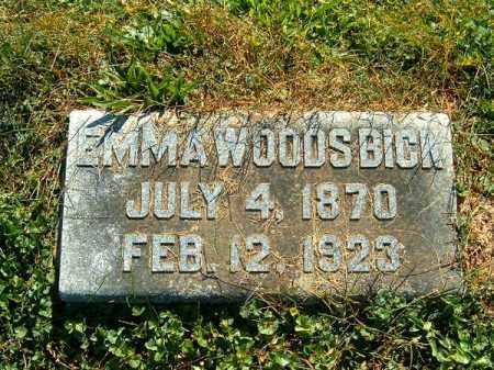 WOODS BICK, EMMA - Brown County, Ohio | EMMA WOODS BICK - Ohio Gravestone Photos