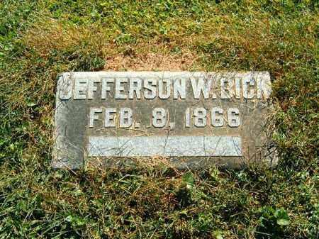 BICK, JEFFERSON  W - Brown County, Ohio | JEFFERSON  W BICK - Ohio Gravestone Photos