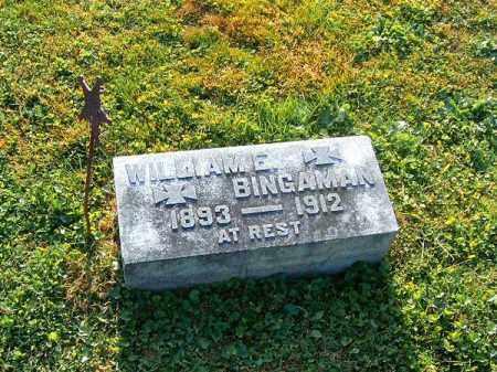 BINGAMAN, WILLIAM   E - Brown County, Ohio | WILLIAM   E BINGAMAN - Ohio Gravestone Photos
