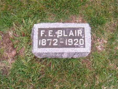 BLAIR, F  E - Brown County, Ohio | F  E BLAIR - Ohio Gravestone Photos