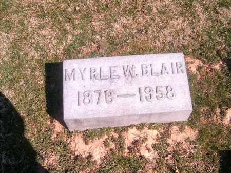 BLAIR, MYRLE   W - Brown County, Ohio   MYRLE   W BLAIR - Ohio Gravestone Photos