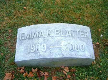 BLATTER, EMMA  G - Brown County, Ohio | EMMA  G BLATTER - Ohio Gravestone Photos