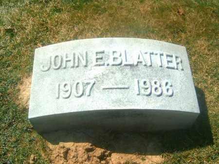 BLATTER, JOHN  E - Brown County, Ohio | JOHN  E BLATTER - Ohio Gravestone Photos