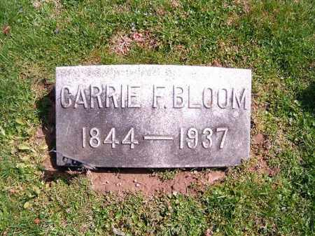 BLOOM, CARRIE   F - Brown County, Ohio   CARRIE   F BLOOM - Ohio Gravestone Photos
