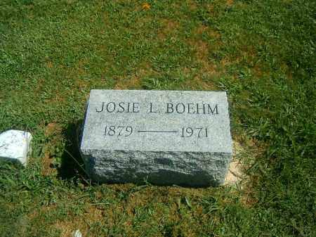 BOEHM, JOSIE  L - Brown County, Ohio   JOSIE  L BOEHM - Ohio Gravestone Photos