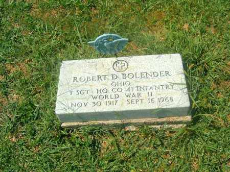 BOLENDER, ROBERT  D - Brown County, Ohio   ROBERT  D BOLENDER - Ohio Gravestone Photos