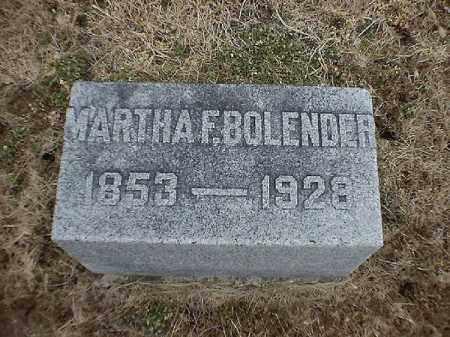 BOLENDER, MARTHA  F - Brown County, Ohio   MARTHA  F BOLENDER - Ohio Gravestone Photos