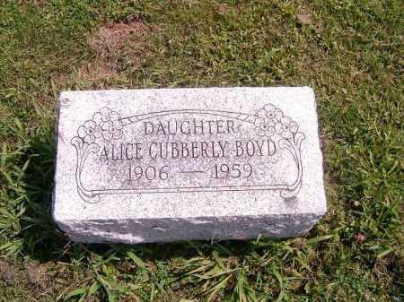 CUBBERLY BOYD, ALICE - Brown County, Ohio   ALICE CUBBERLY BOYD - Ohio Gravestone Photos