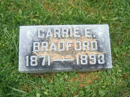BRADFORD, CARRIE   E - Brown County, Ohio | CARRIE   E BRADFORD - Ohio Gravestone Photos