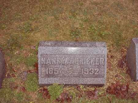 BRICKER, NANCY A - Brown County, Ohio | NANCY A BRICKER - Ohio Gravestone Photos