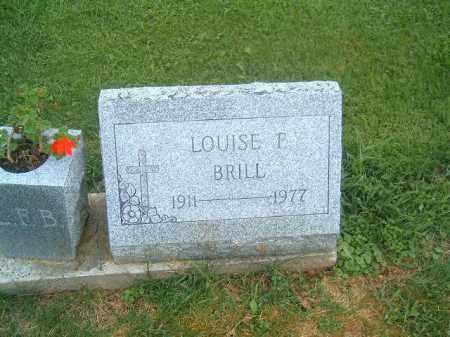 BRILL, LOUISE  F - Brown County, Ohio | LOUISE  F BRILL - Ohio Gravestone Photos