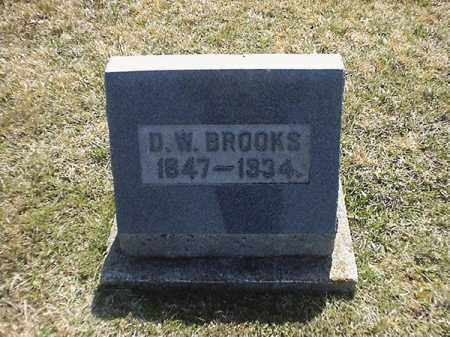 BROOKS, D  W - Brown County, Ohio   D  W BROOKS - Ohio Gravestone Photos