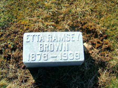 RAMSEY BROWN, ETTA - Brown County, Ohio | ETTA RAMSEY BROWN - Ohio Gravestone Photos