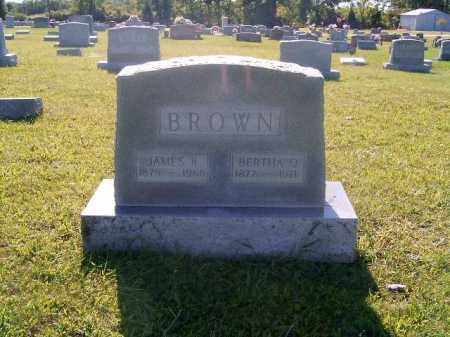 BROWN, BERTHA  O - Brown County, Ohio   BERTHA  O BROWN - Ohio Gravestone Photos