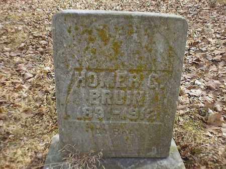 BRUIN, HOMER  C - Brown County, Ohio | HOMER  C BRUIN - Ohio Gravestone Photos