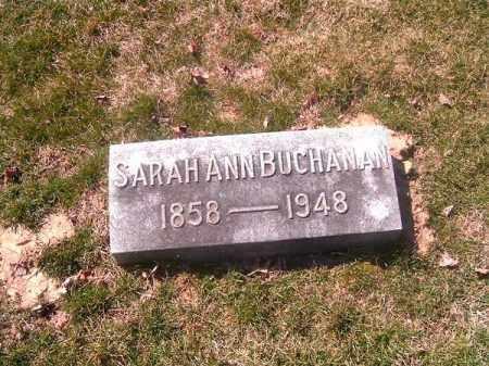 BUCHANAN, SARAH ANN - Brown County, Ohio | SARAH ANN BUCHANAN - Ohio Gravestone Photos