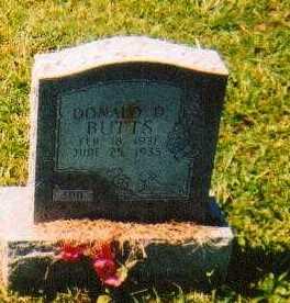 BUTTS, DONALD - Brown County, Ohio | DONALD BUTTS - Ohio Gravestone Photos