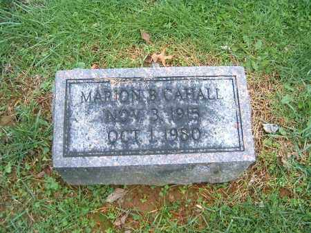 CAHALL, MARION  B - Brown County, Ohio | MARION  B CAHALL - Ohio Gravestone Photos