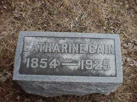 CAIN, CATHARINE - Brown County, Ohio | CATHARINE CAIN - Ohio Gravestone Photos
