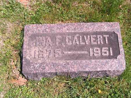 CALVERT, INA  F - Brown County, Ohio | INA  F CALVERT - Ohio Gravestone Photos