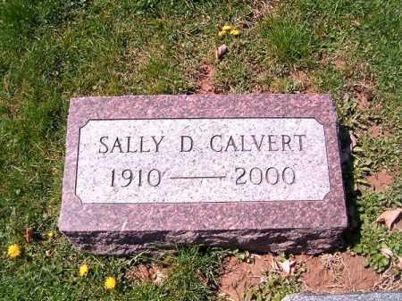 CALVERT, SALLY   D - Brown County, Ohio | SALLY   D CALVERT - Ohio Gravestone Photos