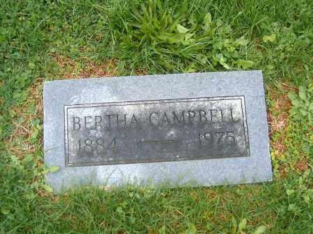 CAMPBELL, BERTHA - Brown County, Ohio | BERTHA CAMPBELL - Ohio Gravestone Photos