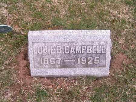 CAMPBELL, LOUIE  B - Brown County, Ohio | LOUIE  B CAMPBELL - Ohio Gravestone Photos