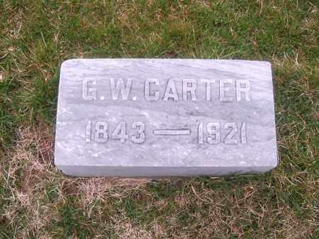 CARTER, G W - Brown County, Ohio   G W CARTER - Ohio Gravestone Photos