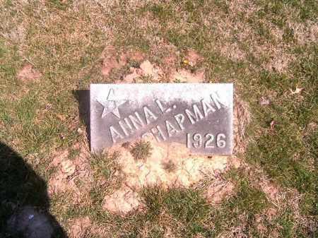 CHAPMAN, ANNA   L - Brown County, Ohio | ANNA   L CHAPMAN - Ohio Gravestone Photos