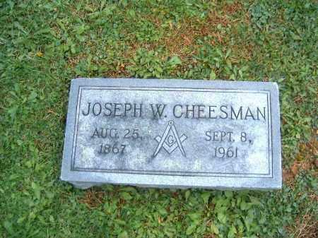 CHESSMAN, JOSEPH W - Brown County, Ohio   JOSEPH W CHESSMAN - Ohio Gravestone Photos