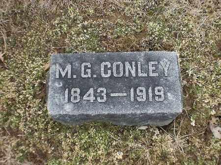CONLEY, M  G - Brown County, Ohio   M  G CONLEY - Ohio Gravestone Photos