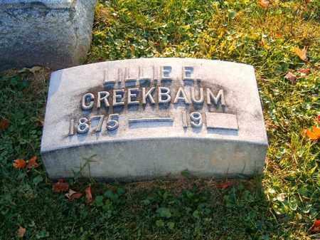 CREEKBAUM, LILLIE   E - Brown County, Ohio   LILLIE   E CREEKBAUM - Ohio Gravestone Photos