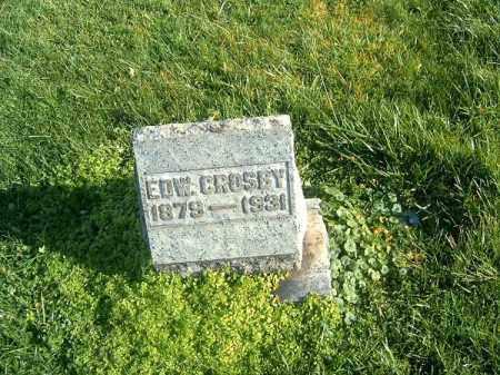 CROSBY, EDW - Brown County, Ohio   EDW CROSBY - Ohio Gravestone Photos